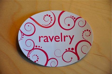 Ravelry Swirl Sticker